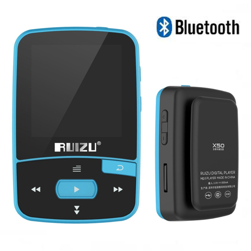 Ruizu X50 Sport Audio Mini Bluetooth Mp3 Player Music Audio Mp 3 Mp-3 With Radio Digital Hifi Hi-Fi Screen Fm Flac Usb 8Gb Loss