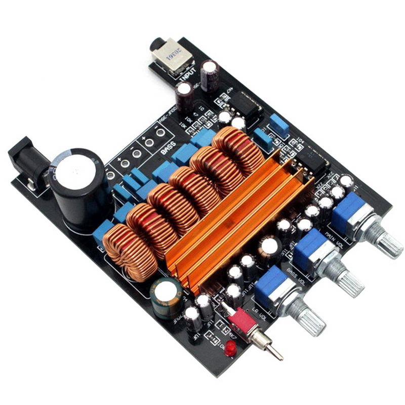 12v 50Wx2+100W TPA3116D2 2.1 HIFI digital subwoofer amplifier Verst board new arrival tpa3116d2 50wx2 100w 2 1 channel digital subwoofer amplifier board 12v 24v power free shipping