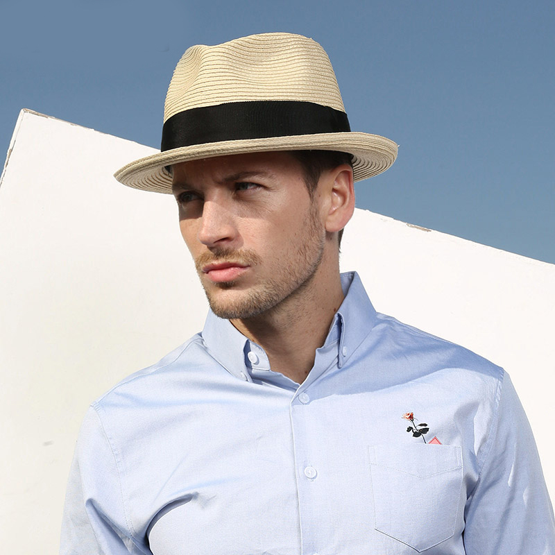 Sedancasesa Sping Sun Hats for Men Caps Sombreros Summer Visor Caps Anti-UV Chapeu Outdoor Sea Beach Straw Mens Hat muñeco buffon