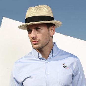 6bd79c72309e Gorros de Sol de Sedancasesa Sping para hombres gorras Sombreros de visera  de verano Anti-UV Chapeu sombrero de hombre de paja de playa de mar al aire  ...