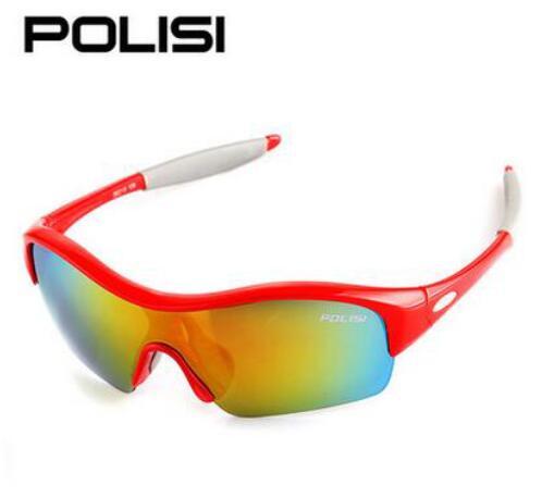 POLISI New Kids Cycling Sunglasses Polarized Soft Children Bike Bicycle Sun Glasses UV400 Outdoor Sport Eyewear