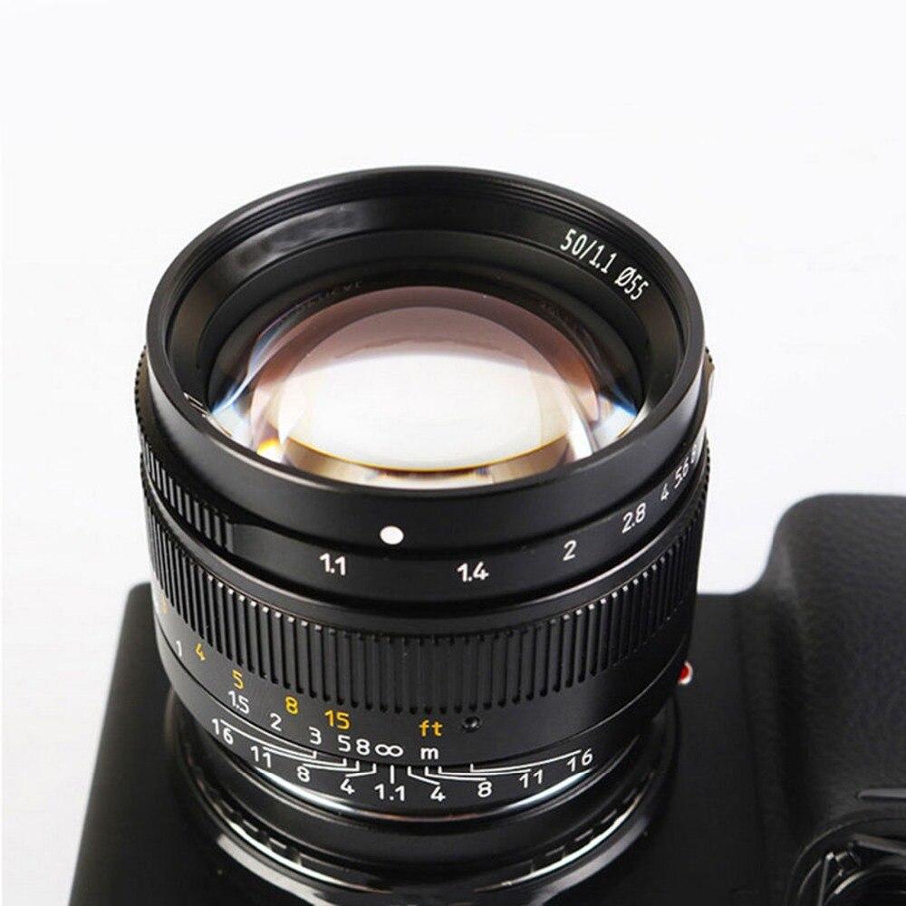 50mm f1.1 m montagem lente fixa para leica m montagem câmeras M M m240 m3 m6 m7 m8 m9 m10 - 4