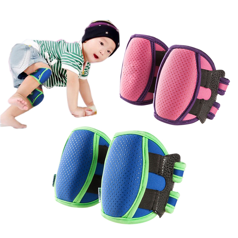 1 Pair Baby Knee Pads Protector Sponge Kids Children Knee Support Crawling Elbow Cushion Kids Sports Safety Kneepad HJ40