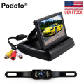 "4.3"" Car Flodable TFT LCD Car Rear View Camera Monitor Vehicle Video Parking System Reversing Kit Car-styling"