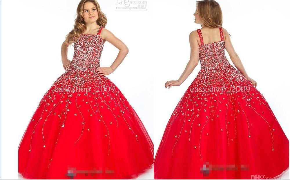 free shipping   flower     girl     dresses   for weddings 2015 baptism prom communion   dress   kids christmas beading crystal pageant   dresses