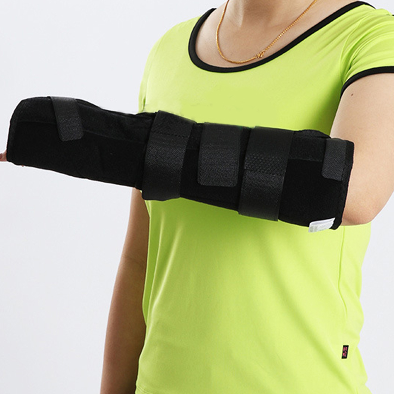 New Style Adjustable Wrist and Forearm Splint External Fixed Support Wrist Brace Fixing Orthosis For Left Hand Unisex S/M/L sport cotton wrist brace wrap support black