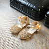 Girl Sandals Party Girls Shoes Princess Summer Toddler Flower Fashion Wedding Shoe Kids Leather Size 26