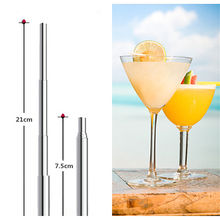 1pcs Creative stainless steel straws retractable cocktail portable