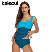 Women Swimwear Push Up Two Pieces Swimsuit Print Swimming Beachwear Sexy Bikini Set  New Arrival Vintage Azure Front Crisscross недорого