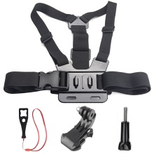 for Gopro Accessories Chest Strap Belt Body Tripod Harness Mount For Gopro Hero 5 4 3+ for Xiaomi for Yi 4K SJCAM EKen H9 Camera все цены
