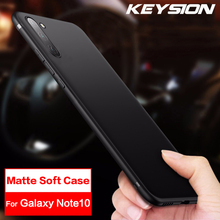 KEYSION Matte Case For Samsung Galaxy Note10 10 Pro Note9 8 Soft TPU Silicone Phone Cover S10 Plus S10e S9 S10+ S8