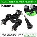 Adaptador de Montaje de Gopro Accesorios Go Pro Sostenedor de la Bici Tija Pipe Rack Roll barra de montaje para cámara gopro hd hero 4 hero 3 hero 2