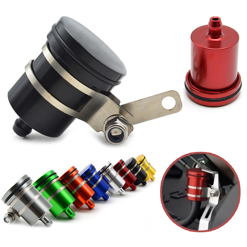 JINGYI Motorcycle Brake Fluid Reservoir Clutch Cylinder Tank Oil Fluid Cup For