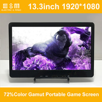 13.3 Inch 1920*1080P Portable Game Screen Display Speaker IPS Hdmi VGA Raspberry Pi 3 Xb PS4 Slim Aerial Monitor PC LCD Module