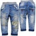 3706 детские брюки повседневные брюки весна осень джинсы детские мягкие джинсовые мальчики девочки не выцветают случайные