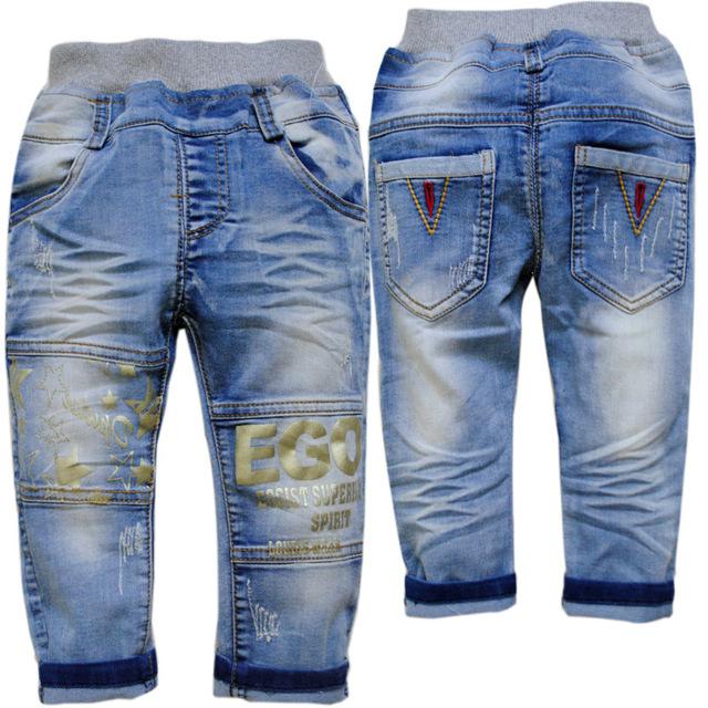 3706 pantalones de los niños pantalones casuales primavera otoño vaqueros niños muchachas de los bebés de mezclilla suave no se desvanece casual