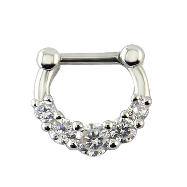 Фото прозрачные циркониевые украшения для тела модные кольца носа цена