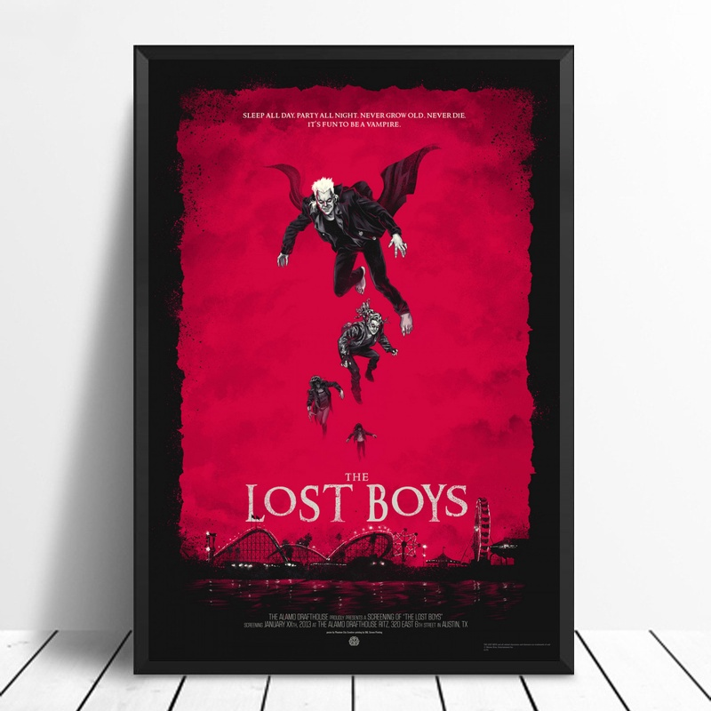 The Lost Boys Poster Movie Art Picture Print On Canvas