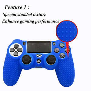 Image 3 - IVYUEEN New Version Silicone Case for Dualshock 4 for PlayStation 4 PS4 Pro Slim Console Skin Cover with Controller Grip Caps