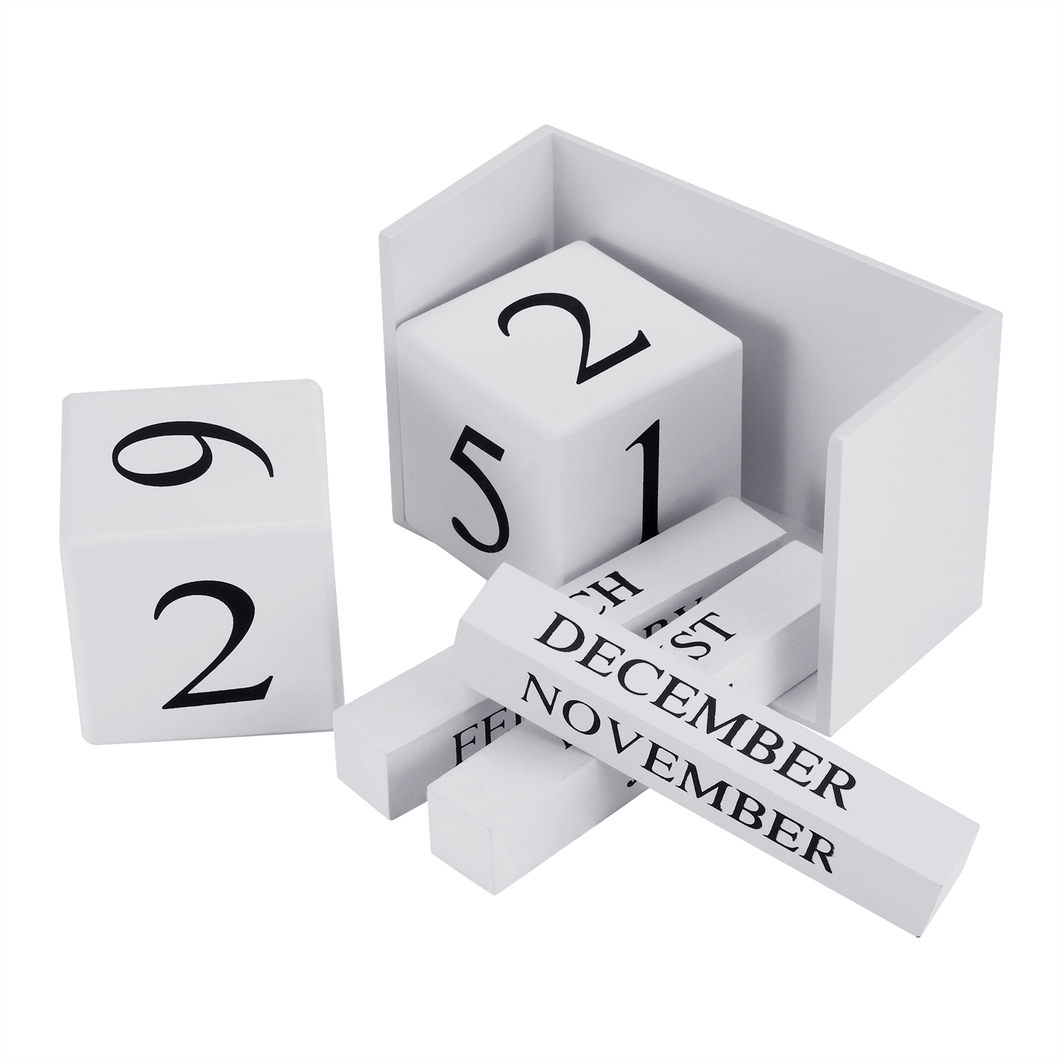 aec6e4882a53 US $9.53 41% OFF|DIY Calendar Block Wooden Perpetual Desk Calendar Western  Style Tabletop Calendar-in Decorative Letters & Numbers from Home & Garden  ...