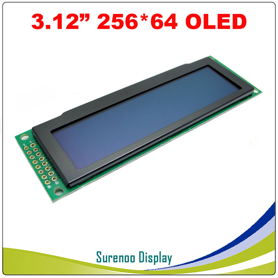 """Image 3 - Real OLED Display, 3.12"""" 256*64 25664 Dots Graphic LCD Module Display Screen LCM Screen SSD1322 Controller Support SPILCD Modules   -"""