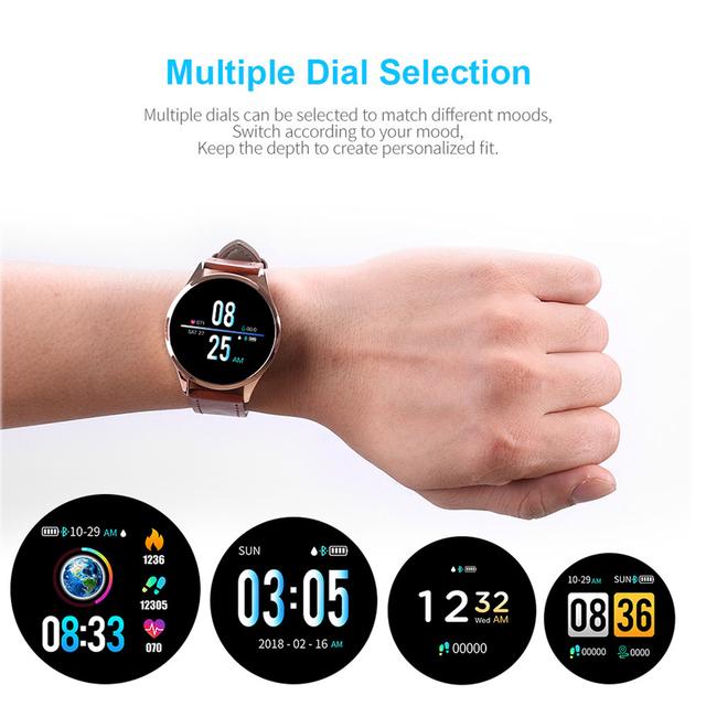 2019 Newwear Q9 1.2″ IPS Big Screen Smart Watch Waterproof HR Sensor Blood Pressure Monitor Fashion Fitness Smartwatch Men Women