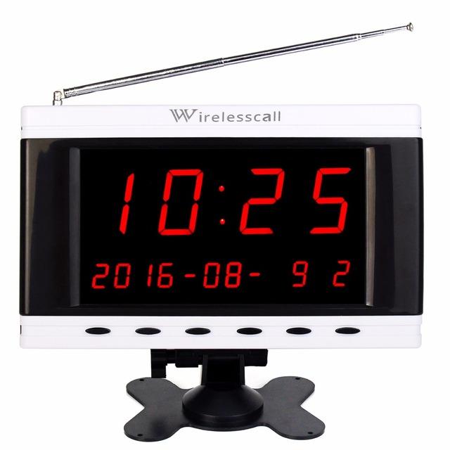 433 MHz Sem Fio Serviço de Garçons Chamada Filas Do Sistema Host Receptor Exibição do Calendário de Transmissão de Voz Para O Café Do Hotel F3261B