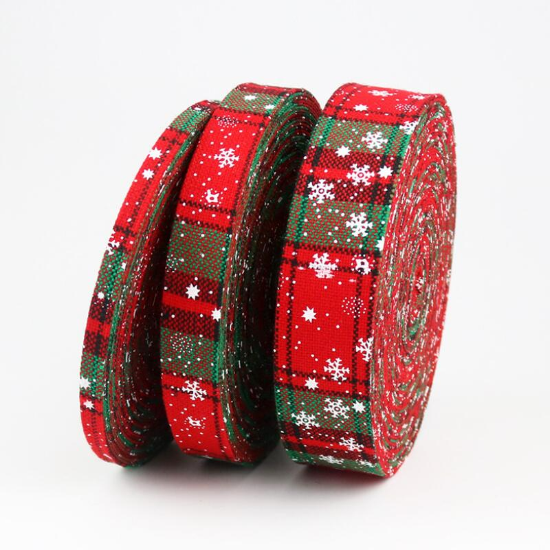 10 Meters DIY Craft Ribbon Christmas Snowflake Strips Gift Wrapping Party Home Wedding Decoration Christmas DIY Material in DIY Craft Supplies from Home Garden