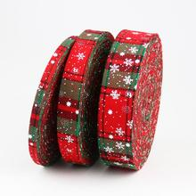 10 Meters DIY Craft Ribbon Christmas Snowflake Strips Gift Wrapping Party Home Wedding Decoration Material