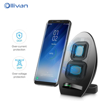 Qi Wireless Charger For Samsung Galaxy S8 Plus Fast Qi Wireless Charger Charging With Cooling Fan