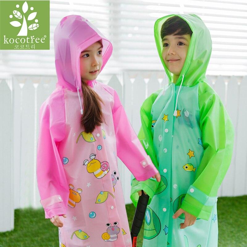 Confident Ktlparty Kids Baby Unisex Cartoon Waterproof Raincoat Boys Girls Rainwear Children Waterproof Poncho Household Merchandises
