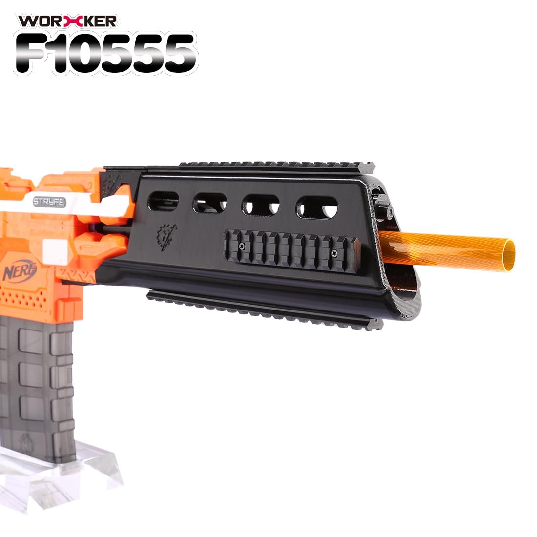 купить Worker f10555 G362.0 3D Printing Long Type Front Tube Kit for Nerf N-Strike Elite Stryfe Blaster - Black по цене 2623.34 рублей