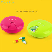Circular Rotary Plastic ABS PP Drug Pills Box Cosmetics Date Remind Transparent Receiving Box Creative Jewelry Storage Box Kit 1pcs transparent plum blossom travel vacations pills jewelry necklace pills electronic materials and accessories storage box