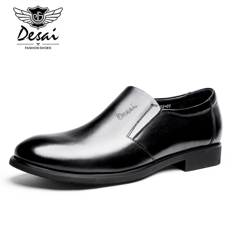 002f08a533b DESAI Genuine Leather Men Prom Shoes Fashion Simple Soft Cow Leather Casual  Shoes Men Loafers Slip on Leisure Shoe DS0002 01 -in Men s Casual Shoes  from ...