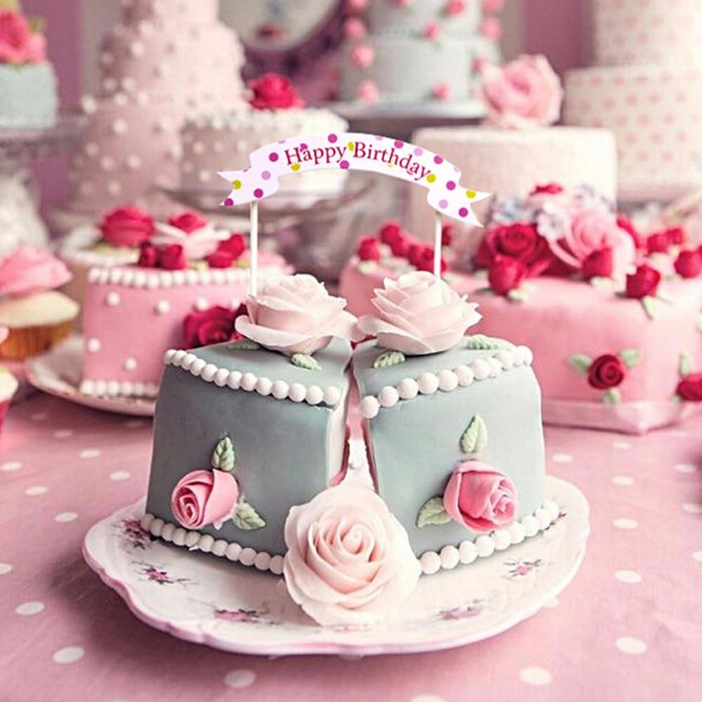 Aliexpresscom Buy Happy Birthday Banner Flag cupcake cake