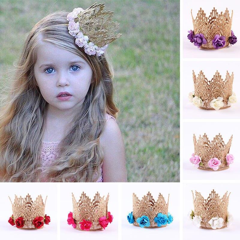 1x Cute Fashion Hot Sweet Girls Rhinestone Crown Princess Hair Clip Lace Pearl Shiny Star Hair Band Headband Hair Accessories Soft And Antislippery Accessories