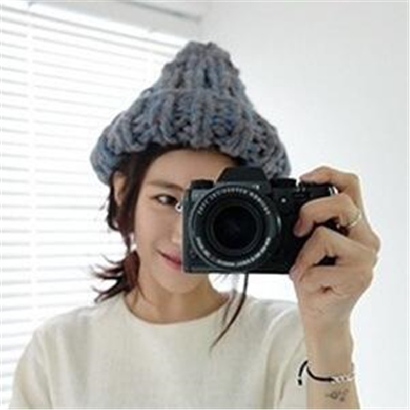 2016 Korean version of the new pacifier sharp knit flower pots cap pearl fisherman cap autumn and winter  hat balaclava cicely mary barker flower fairies of the winter