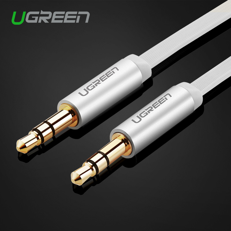 Ugreen AUX Cable Car for iPhone 3.5mm Male to Male Stereo Flat Audio Cable 3.5 jack to jack Headphone Beats Speaker AUX Cable