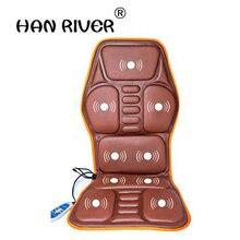 Coussin de Massage complet pour le corps de voiture, fauteuil de Massage vibrant à la chaleur, pour le cou, pour siège de voiture, 12V