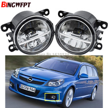 2x Car Exterior Accessories White 6000K LED Fog Lamps Light For Opel Vauxhall Vectra GTS Caravan OPC C 2005-2008