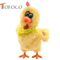 TOFOCO 30cm Funny Electric Laying Eggs Hens Chiken Toy Novelty Crazy Singing Dancing Electronic Plush Pets X-mas Gift!