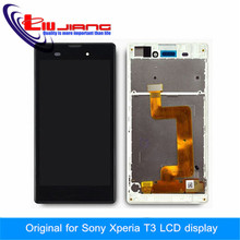 100% Original Tested LCD Display For Sony Xperia T3 M50W LCD Touch Screen Digitizer Assembly with Frame Glass film