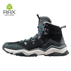 Image 3 - RAX Hiking Boots Men Waterproof Winter Snow Boots Fur lining Lightweight Trekking Shoes Warm Outdoor Sneakers Mountain Boots Men