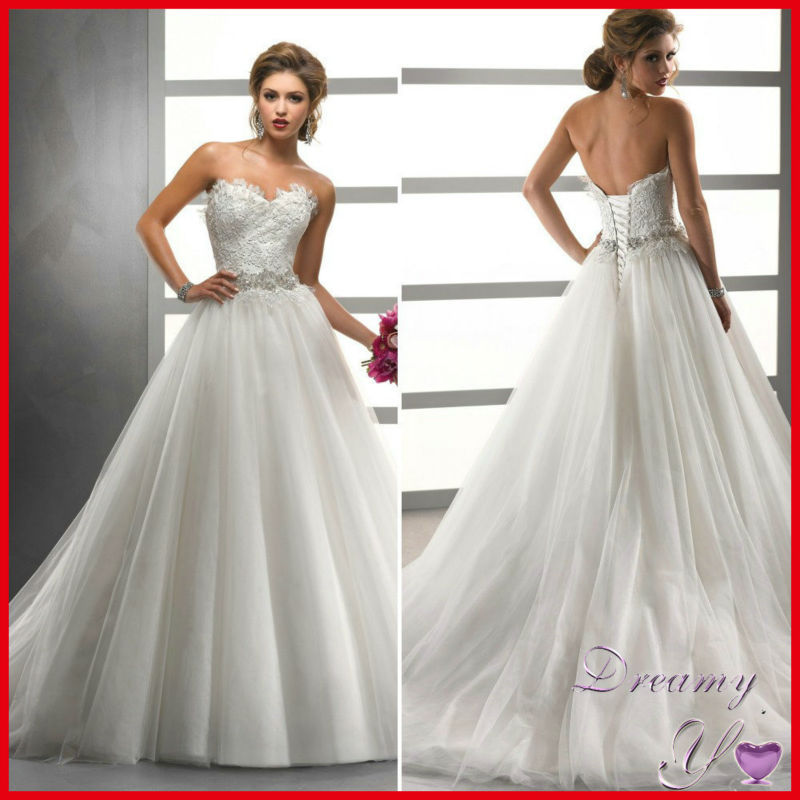 Classic Design Corset Beaded Lace Tulle German Wedding Dresses In