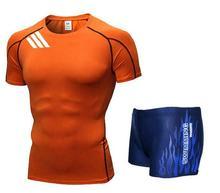 Мужская футболка для плавания с капюшоном Боксеры Шорты Купальники с короткими брюками Купальники