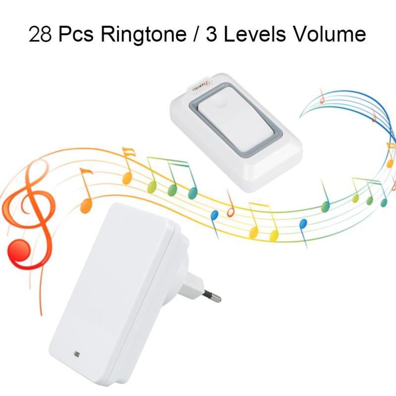 Großhandel Saful Wasserdichte Touch LED Tür Glocke EU/Us-stecker Drahtlose Türklingel kits Push Türklingeln Taste Empfänger fernbedienung