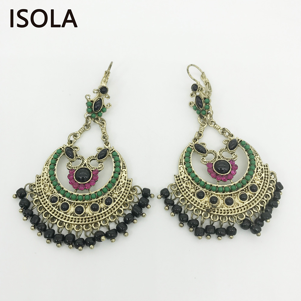 Charming Chandeliers That Make A Statement: ISOLA Statement Beaded Filigree Chandelier Dangle Vintage