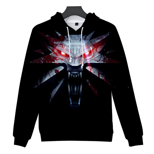 2018 hit Hot Game 3D The Witcher 3 cotton Hoodies sweatshirts Men Women Couple Sweatshirt Harajuku long sleeve Cool Pullovers 4
