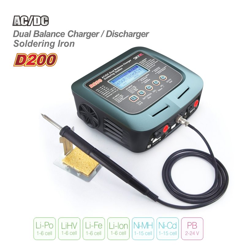 все цены на SKYRC D200 ba;ance Charger SK-100097 dual output AC power supported with built-in soldering iron