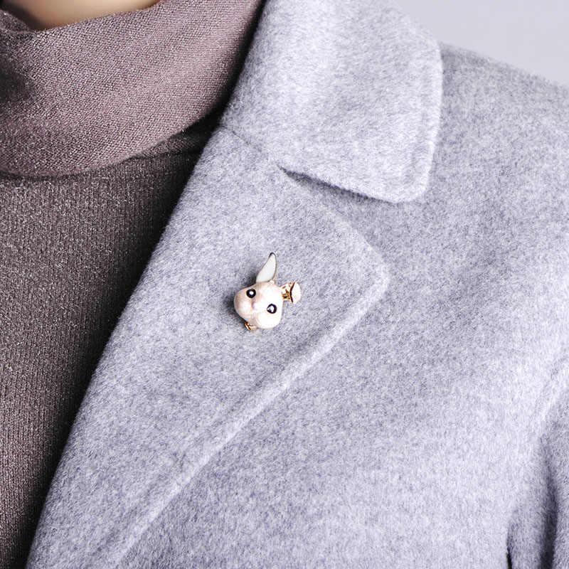 FUNMOR Яркая футболка из искусственного меха с мордочкой кролика Форма Броши золотого цвета с героями мультфильмов Для женщин детей значки с животными брошь подарки аксессуары для свитера нагрудные значки